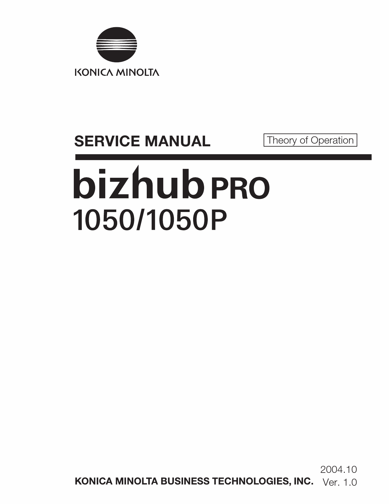 Konica-Minolta bizhub-PRO 1050 1050P THEORY-OPERATION